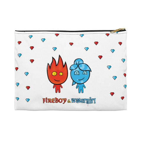 Image of Fireboy&Watergirl Accessory Pouch (White)