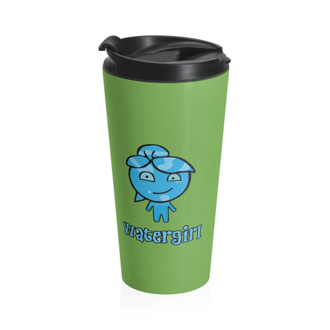 Image of Watergirl&Fireboy Stainless Steel Travel Mug (Green)