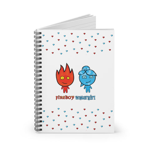 Fireboy&Watergirl Spiral Notebook - Ruled Line (White)