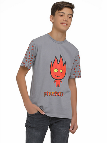 Image of fireboy tshirt on model