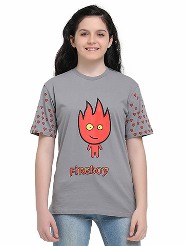Image of fireboy tshirt on girl