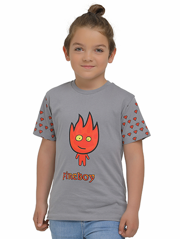 Image of fireboy tshirt on kid