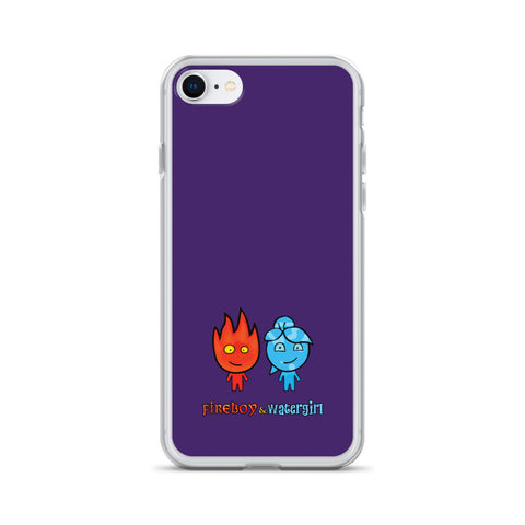 Fireboy&Watergirl iPhone Case (Purple)