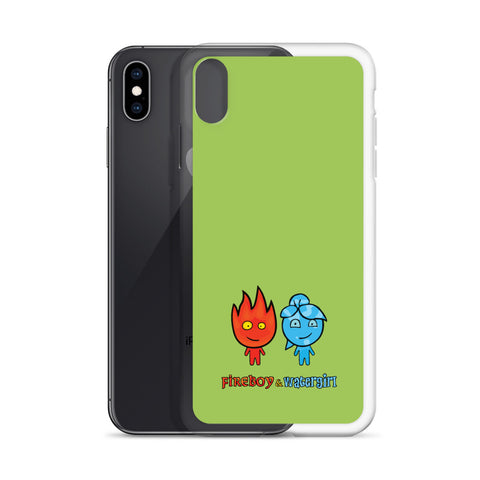 Image of Fireboy&Watergirl iPhone Case (Green)
