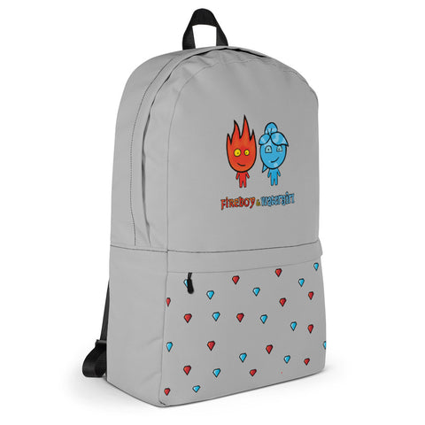 Fireboy&Watergirl Backpack with Diamonds (Gray)