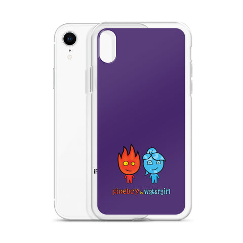 Image of Fireboy&Watergirl iPhone Case (Purple)