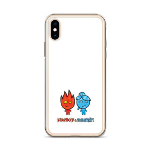 Fireboy&Watergirl iPhone Case (White)