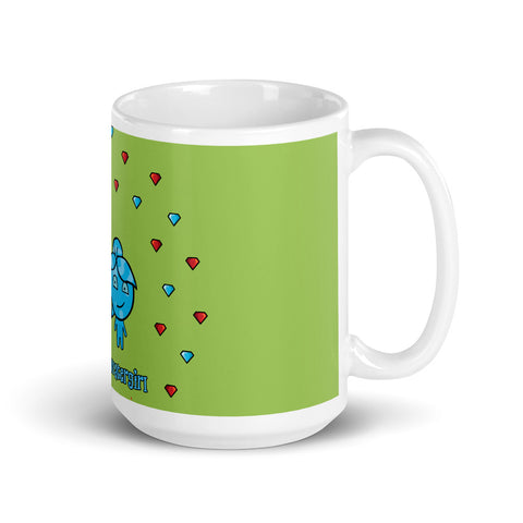 Fireboy&Watergirl Mug with Diamonds (Green)
