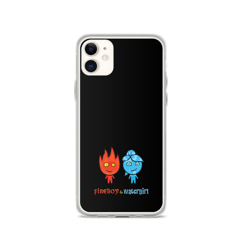 Fireboy&Watergirl iPhone Case (Black)