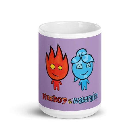Image of Fireboy&Watergirl Mug (Purple)