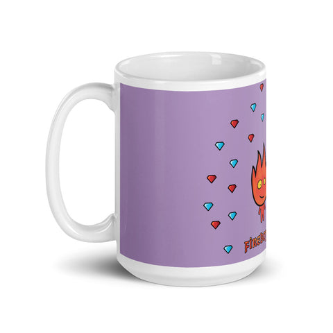 Fireboy&Watergirl Mug with Diamonds (Purple)