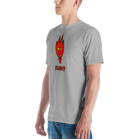 Image of Adult Fireboy T-shirt (Gray)