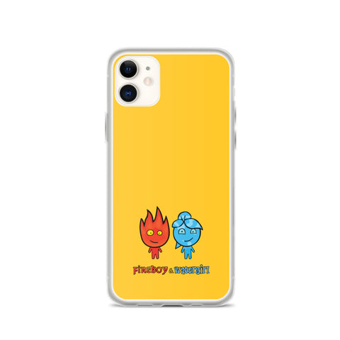 Fireboy&Watergirl iPhone Case (Yellow)
