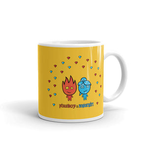 Fireboy&Watergirl Mug with Diamonds (Yellow)