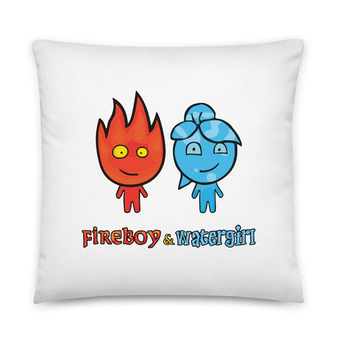 Fireboy&Watergirl Pillow (White)