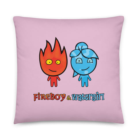 Image of Fireboy&Watergirl Pillow (Pink)