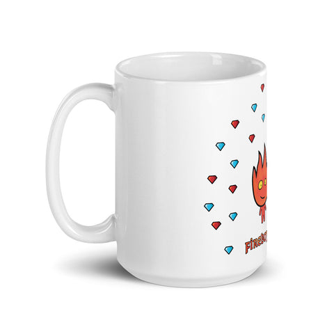 Fireboy&Watergirl Diamonds Mug (White)