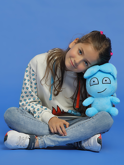 watergirl plush with model
