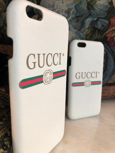 Gucci Classy iPhone Case | Cover (White)