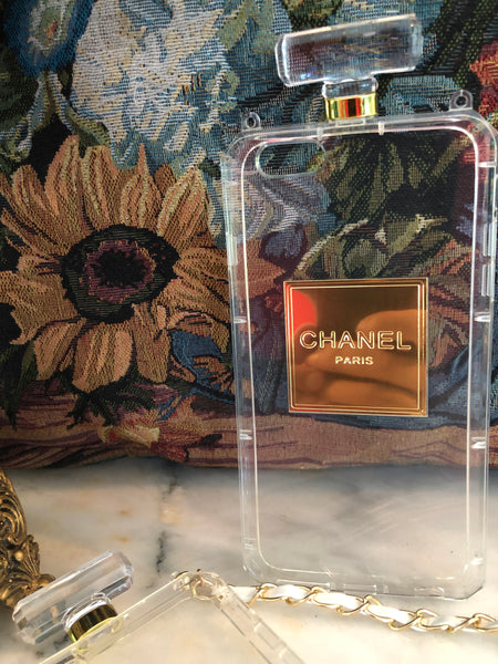 Chanel Perfume Bottle iPhone Cover | Case  (Transparent)
