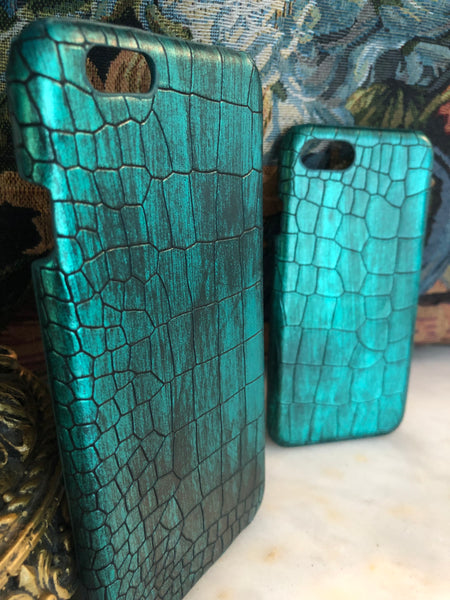 iPhone Crocodile Scale (Emerald Green)