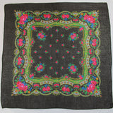 Metallic Black Decorative Border Scarf