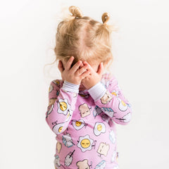Little Sleepies - Pink Breakfast Buddies Two-Piece Bamboo Pajama Set