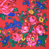 "Rose Scarf Red 30""x30"""