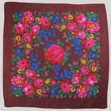 "X-Large Rose Scarf Wine 60""x60"""