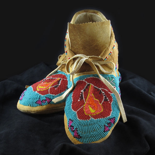 Geometric Rose Moccasins