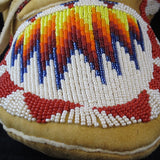 White Beaded Moccasins