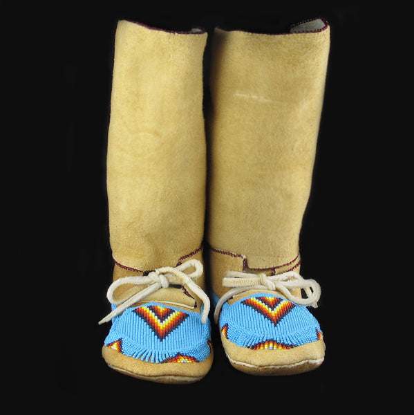 Turquoise Beaded Moccasins