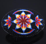 Sioux Star Beaded Belt Buckle