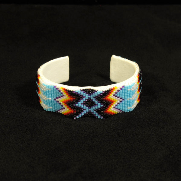 Blue Geo-Metric Wave Bracelet