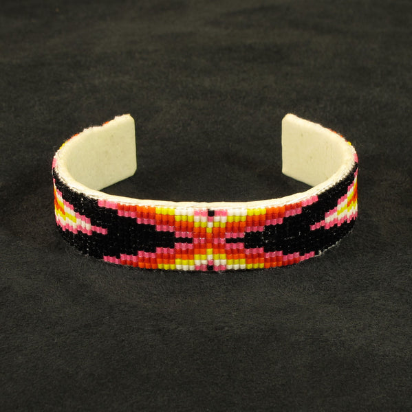 Pink Mult-Color Beaded Bracelet