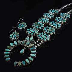 Squash Blossom Necklace Earring Set