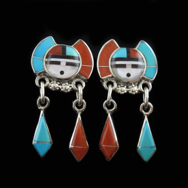 Sun Face Zuni Earrings
