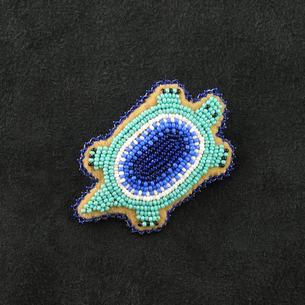 Turquoise Turtle Pin