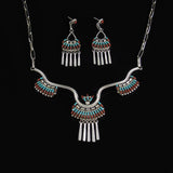 Needle Point Neckalce Earring Set