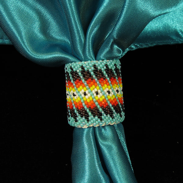 Turquoise Beaded Scarf Slide/Holder