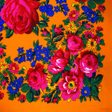 Big Rose Large Orange Scarf