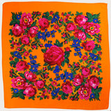 "Rose Scarf Orange 30""x30"""