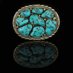 Large Stone Turquoise Belt Buckle