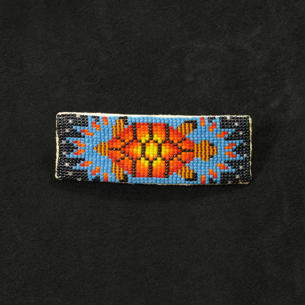 Turtle Beaded Barrette