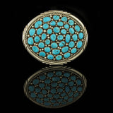 Multi Stone Turquoise Belt Buckle