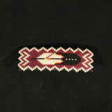 Feather Beaded Barrette