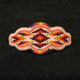 Pink Geo-Metric Beaded Barrette