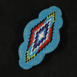 Turquoise Geo-Metric Beaded Barrette