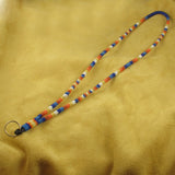 Blue Beaded Lanyard
