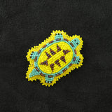 Yellow Beaded Turtle Pin